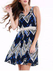 Stylish Sleeveless Zig Zag Dress For Women