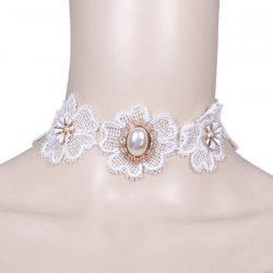 Faux Pearl Flower Wedding Jewelry Choker