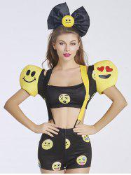 Cute Women's Puff Sleeves Emoji Costume