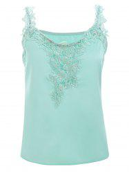 Lace Splicing Spaghetti Strap Tank Top -