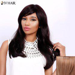 Charming Long Side Bang Fluffy Natural Wave Siv Hair Capless Human Hair Wig For Women