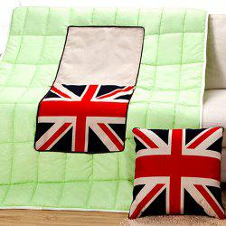 Creative The Union Jack Pattern Multifunction 2 in 1 Folding Cushion Quilt -