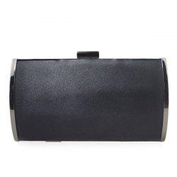 Stylish Clip Closure and Chains Design Evening Bag For Women -