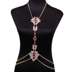 Rhinestone Water Drop Beach Body Jewelry Chain