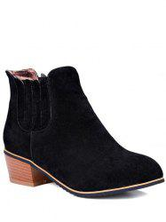 Concise Chunky Heel and Elastic Band Design Ankle Boots For Women -