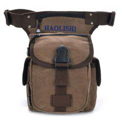 Leisure Canvas and String Design Waist Bag For Men -