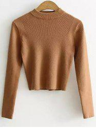 High Neck Cropped Sweater -