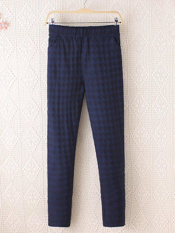 Store Plus Size Plaid Pattern Tapered Pants