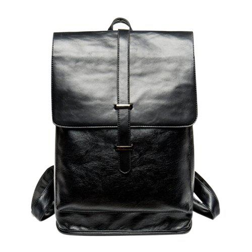 Unique Trendy Strap and Black Color Design Backpack For Men