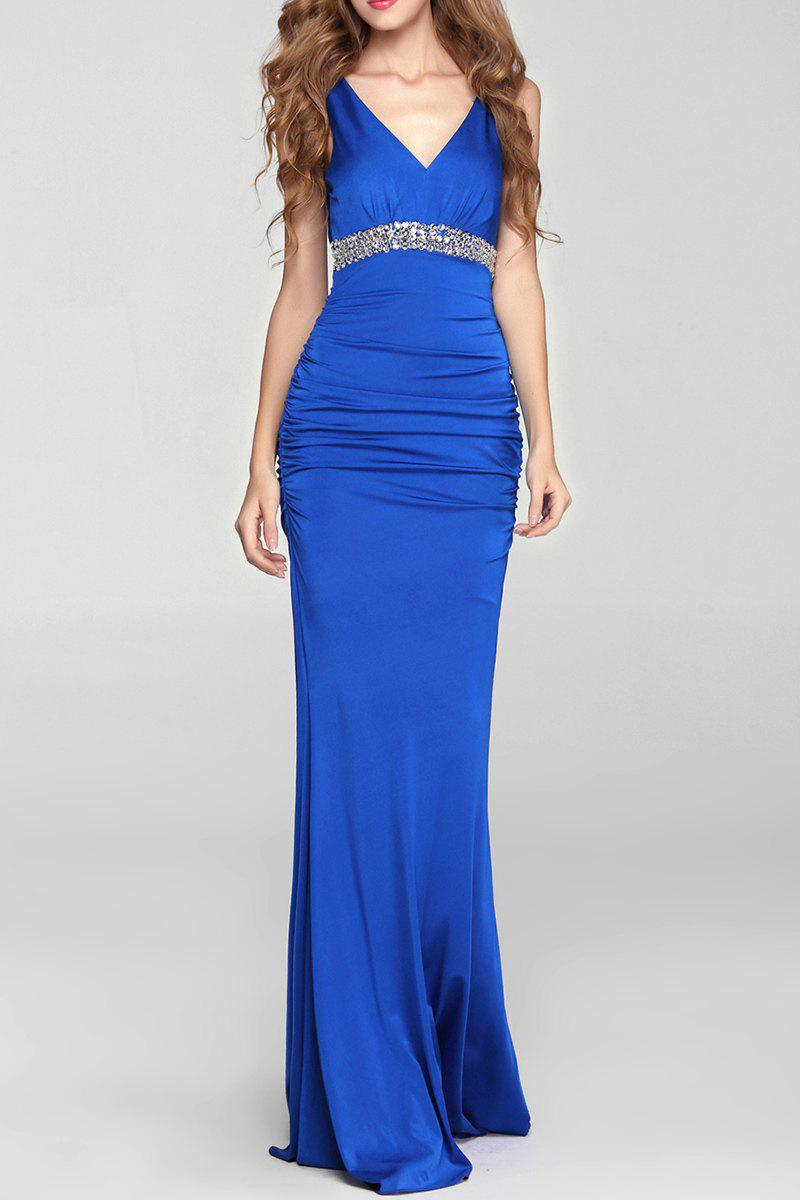 Best Backless Mermaid Prom Tart Maxi Evening Dress