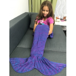 Stylish Yarn Knitted Sleeping Bags Mermaid Tail Shape Blanket