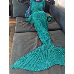 Fashion Sling Falbala Shape Mermaid Tail Design Blanket
