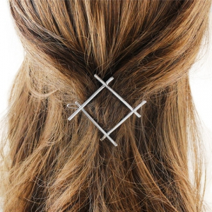 Stylish Cut Out Gold Plated Solid Color Hashtag Sign Hairpin For Women