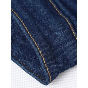Solid Color Zipper Fly Straight Leg Jeans For Men - BLUE 34