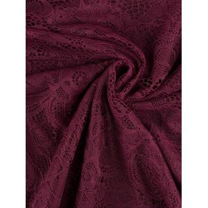 Funky Short Wedding A Line Dress With Sleeves - WINE RED XL