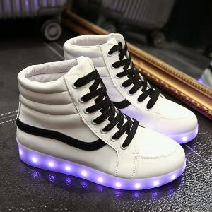 Stylish Led Luminous and High Top Design Sneakers For Women -