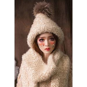 Faux Fur Ball Top Steeple Hat