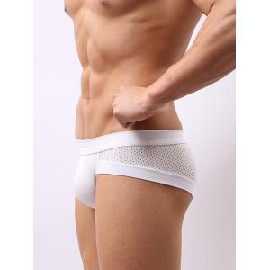 Mesh Splicing U Pouch Design Band Briefs For Men -