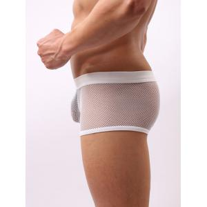 Perspective Ultrathin Mesh Boxer Brief For Men - WHITE 2XL
