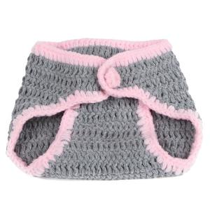 2Pcs Yarn Knitted Rabbit Animal Photography Clothes For Baby -