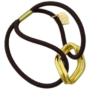 Fashion Style Gold Plated Dimple Rhombus Charm Hair Band For Women - GOLDEN
