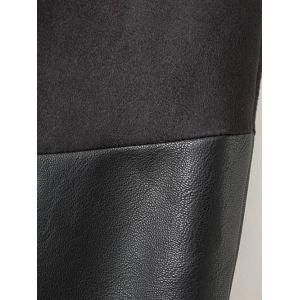 High-Waisted Faux Leather Mini Zippered Skirt -