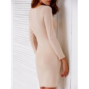 Plunging Neck Hollow Out Bodycon Dress For Women -