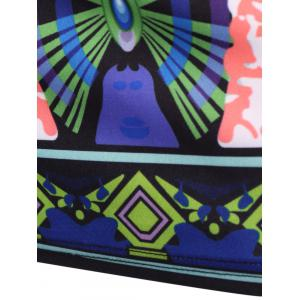 African Tribal Style Off-The-Shoulder Colorful Printed Bodycon Dress For Women -