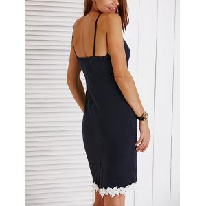 Chic Spaghetti Strap Bodycon Appliques Dress For Women -