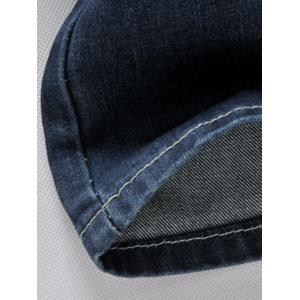 Patched Zipper Fly Straight Leg Jeans For Men -