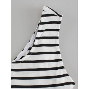 Fashionable Sleeveless Striped Dress For Women -