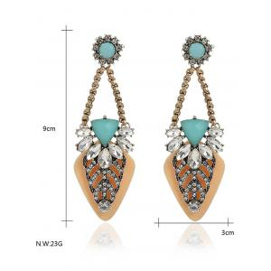 Bohemian Style Rhinestone Geometric Drop Earrings - YELLOW