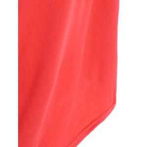 Beach Wrap Slip Dress Cover Up - WATERMELON RED ONE SIZE