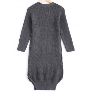 Street Snap Style Pure Color Long Sweater -