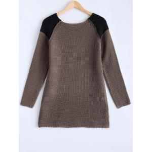 Chic High-Low Hit Color Sweater -