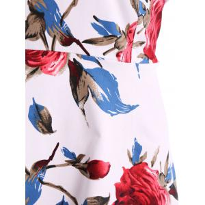 Vintage Sweetheart Neck Short Sleeve Printed Women's Pin Up Dress -