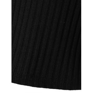 Charming Cut Out Ribbed Slimming Women's Knitwear - BLACK L