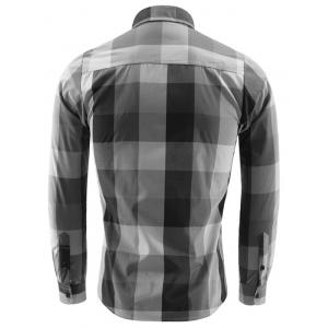 Pocket Front Plaid Turn-down Collar Long Sleeve Shirt For Men -