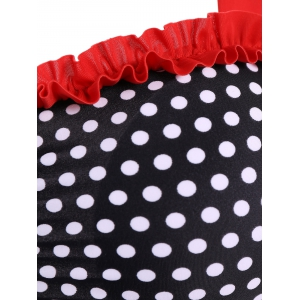 Polka Dot Skirted Boxers Retro Tankini Swimwear -