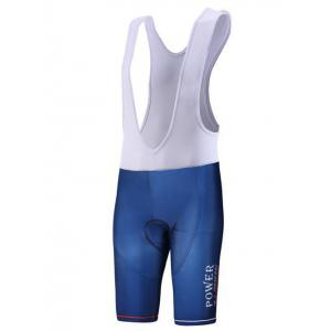 Color Block Spliced Letter Print Zip-Up Stand Collar Cycling Suit ( T-Shirt + Bib Shorts ) For Men -