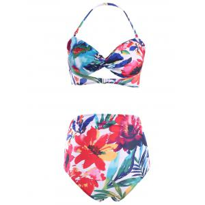High Rise Multi-Way Floral Printed Bikini Set For Women -