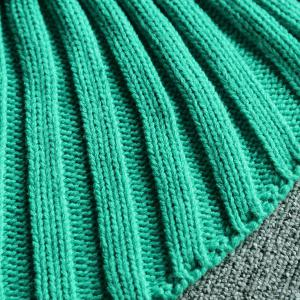 Chic Quality Green Ombre Knitting Mermaid Shape Blanket -