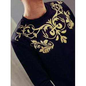 Retro Round Neck Long Sleeve Totem Printed Men's Sweatshirt -