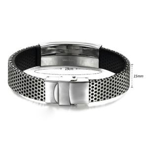 Hollow Out Silver Plated Polished Bracelet -