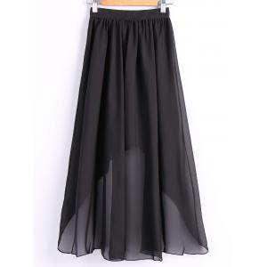 Women's Chiffon Pleated Elastic Waist Dovetail Skirt -