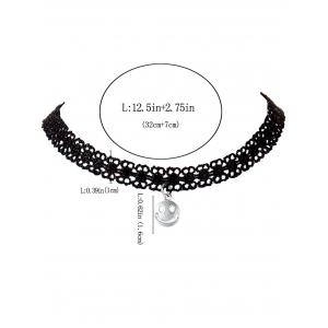 Smiley Face Lace Choker Necklace -