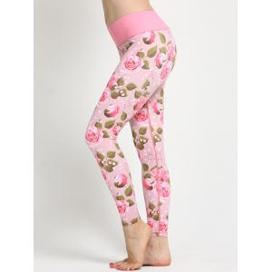 Trendy Women's Floral Print Yoga Leggings -