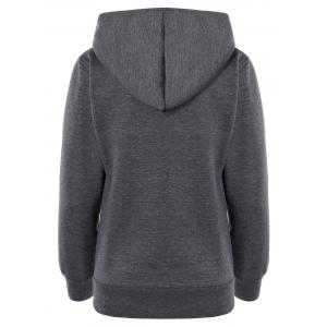 Colorful Button Pocket Hooded Coat - DEEP GRAY XL