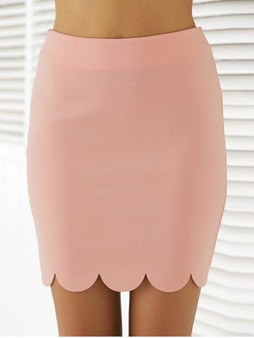 Trendy Fashionable Knee-Length Solid Color Bodycon Skirt