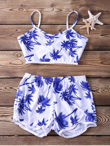 Outfits Stylish Spaghetti Strap Printed Two-Piece Women's Swimsuit